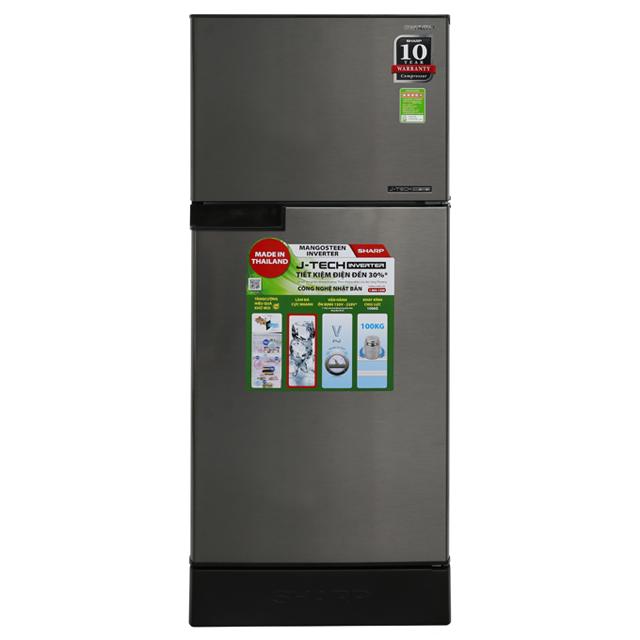 Tủ lạnh SHARP  Inverter 196 lít 2 cánh SJ-X201E-SL