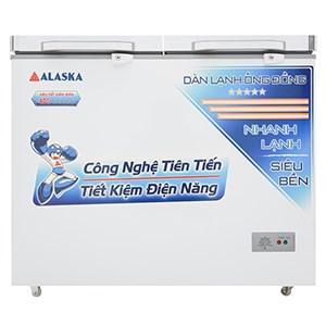 TỦ ĐÔNG ALASKA 1 ĐÔNG, 1 MÁT DÀN ĐỒNG BCD3068C 250L