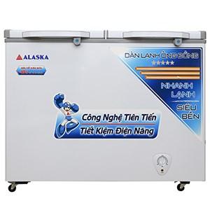 TỦ ĐÔNG ALASKA 1 ĐÔNG, 1 MÁT DÀN ĐỒNG BCD3568C 350L