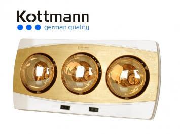 Đèn sưởi 3 bóng Kottman K3BH màu vàng